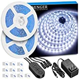 LED Strip Lights, MINGER Dimmable LED Tape Lights for Vanity Makeup Dressing Table, 6000K Light Strips for Home, Kitchen, Party, Xmas and Holiday, Power Adapter Included, (32.8ft)
