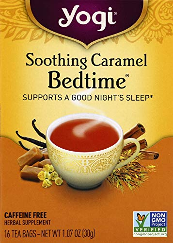 Yogi Bedtime Herbal Tea Caffeine Free Soothing Caramel, 16 Count