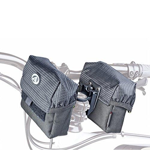 Author Fahrrad Tasche A-H805 für Lenkervorbau doppelt wasserabweisend schwarz