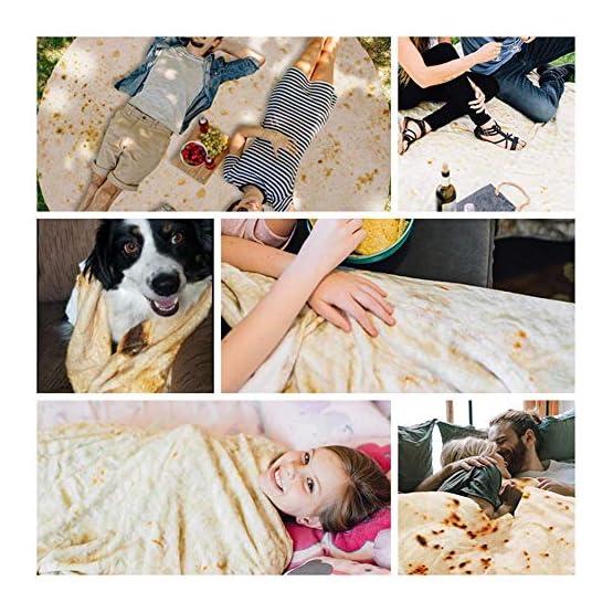 Burrito Blanket   Giant Tortilla Wrap Plush Blanket 5