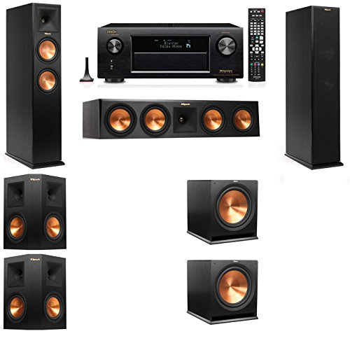 Klipsch RP-250F Tower Speakers-5.2-Denon AVR-X4100W