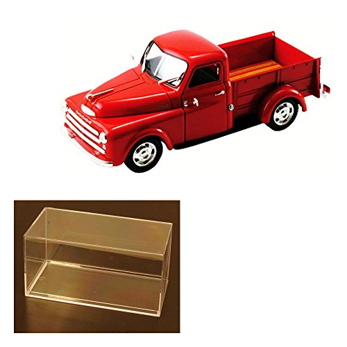 Diecast Car & Accessory Package - 1948 Dodge Pickup Truck, Red - Signature Models 32419 - 1/32 Scale Diecast Model Toy Car w/display case