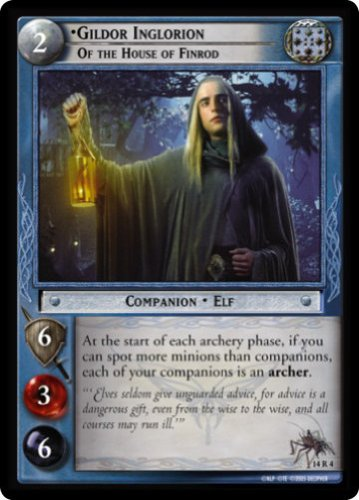 LOTR TCG EME EXPANDED MIDDLE EARTH GILDOR INGLORION OF THE HOUSE OF ELROND 14R4 ()