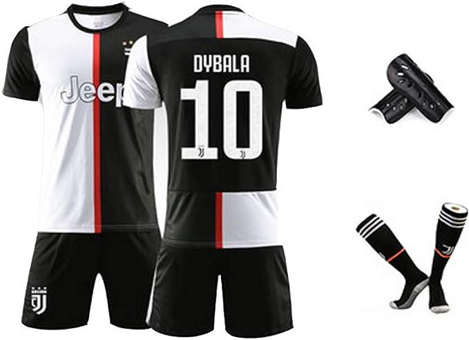 Fu/ßball T-Shirt Juventus Trikot 2020 Ronaldo-Trikot Dybala-Trikot Erwachsenen Kinder Fu/ßball Uniform Anzug Fu/ßballtrikot