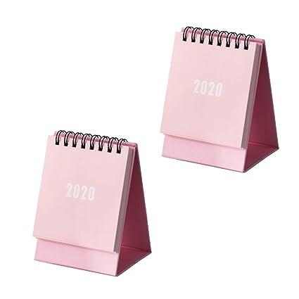 Toyvian - Calendario de sobremesa 2020, estilo sencillo, para el ...