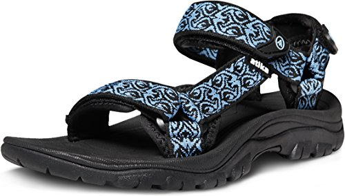 ATIKA Women's Maya Trail Outdoor Water Shoes Sport Sandals W111 AT-W111-KBL