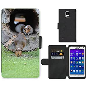 Super Stella Cell Phone Card Slot PU Leather Wallet Case // M00145414 Guinea Pig Zoo Sweet // Samsung Galaxy Note 4 IV