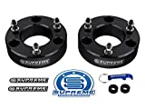 Supreme Suspensions - Silverado 1500 Lift Kit Front 3'' Leveling Lift Kit for [2007 - 2018 Chevy Silverado 1500] and [2007 - 2018 GMC Sierra 1500] BLACK Aircraft Billet Strut Spacers