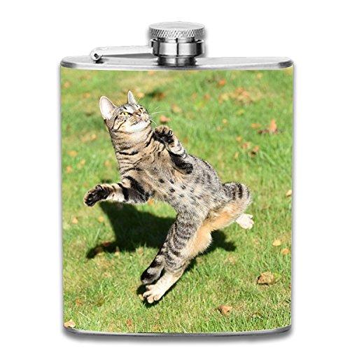 Kong Fu Kitty Liquor Hip flask 7oz Stainless Steel Shot flasks Leak Proof Cool Gift For Men