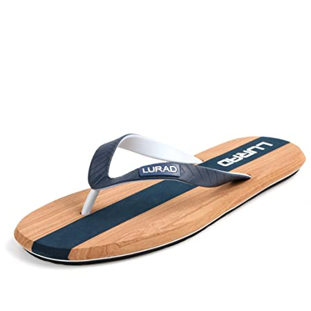 57361be78 QAR Blue Flip-flops Men s Summer Non-slip Outdoor Slippers Sports Shoes  Beach Shoes flip flop (Color   Blue