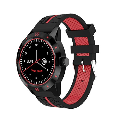 Smart Bluetooth (Diggro DI02 Bluetooth Smart Watch MTK2502C 128MB+64MB Microphone Speaker Siri Support Heart Rate Monitor Sport Pedometer Sedentary Reminder Sleeping Monitor Two-way Anti-Lost for Android&iOS)