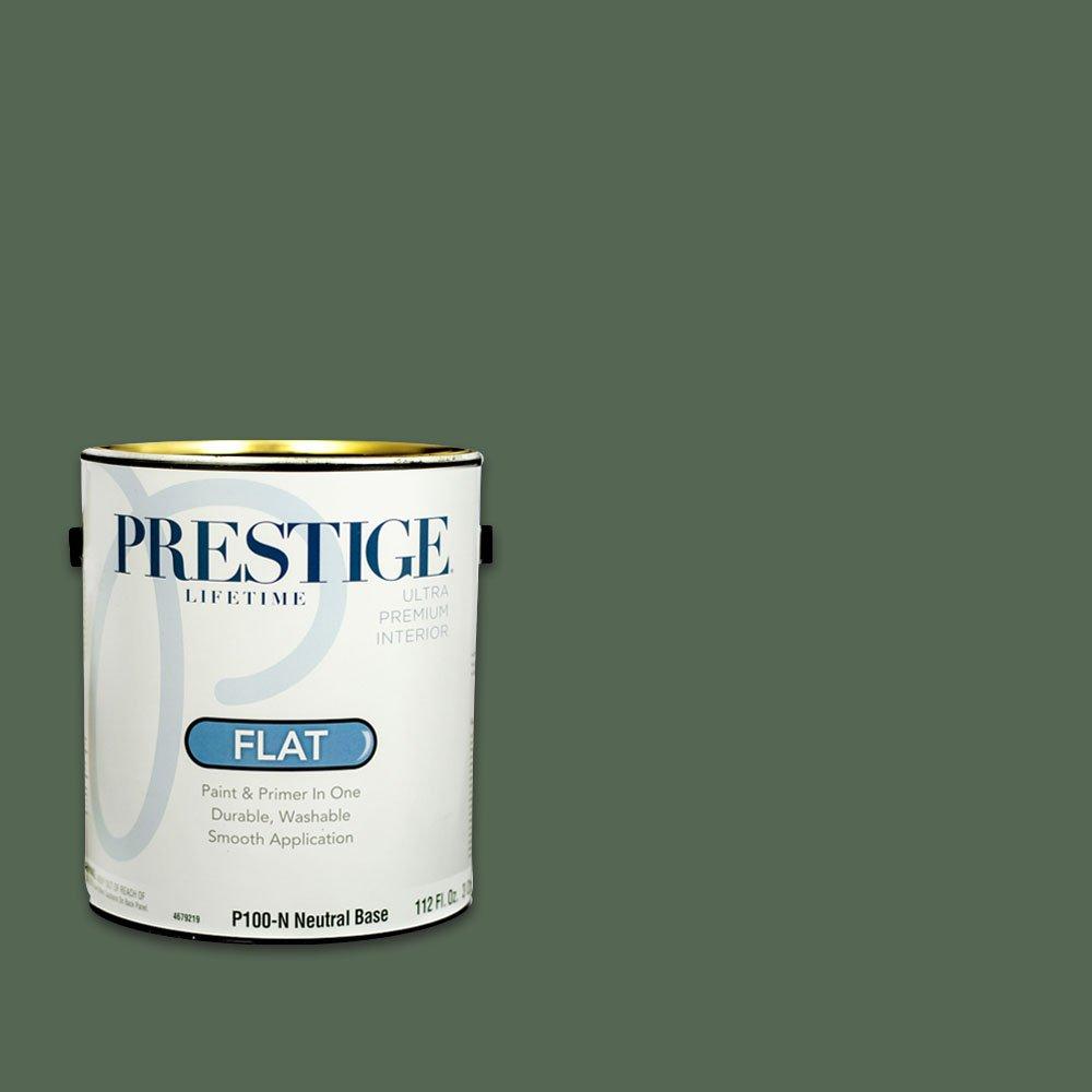 Prestige外部ペイントとプライマーin one 1 Gallon 1 B00QF5Q1RK C153-Kentucky Grass インテリア サテン C153-Kentucky Grass