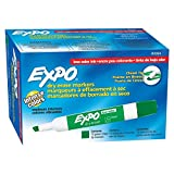 Amazon Price History for:EXPO Low-Odor Dry Erase Markers, Chisel Tip, Green, 12-Count