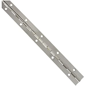 National Hardware N265-371 V570 Continuous Hinge in Nickel