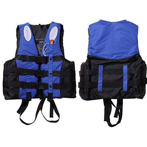ZJchao Kinder und Erwachsene Schwimmweste Rettungsweste Gr. S/M/L/XL/XXL 10-110Kg (Blau, L)