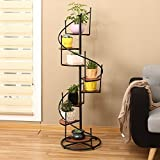 Iron flower stand flower rack display shelf plant stand planter flower shelf plant rack multi-Storey balcony living room with meaty plants-A