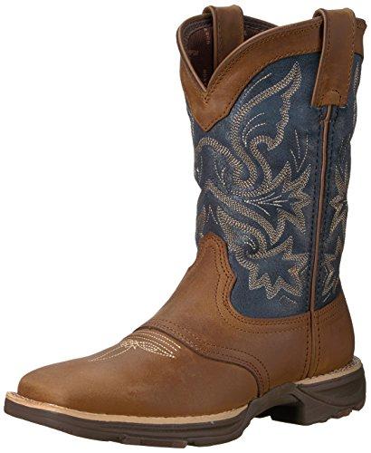 Durango Womens DRD0183 Western Boot Tan Blue Denim