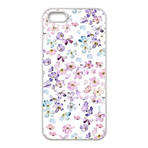 floral pattern flowers print pink blue purple For SamSung Galaxy S3 Phone Case Cover White