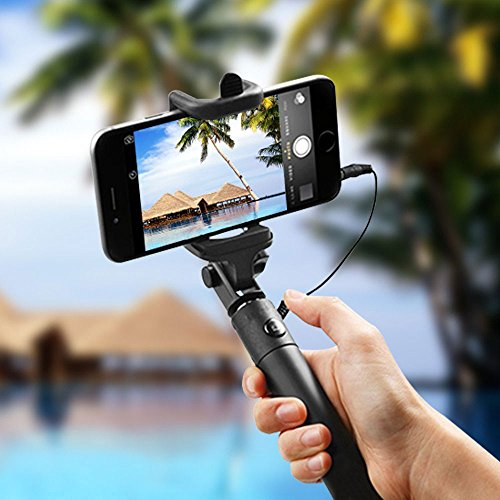 jife sefie stick carloue battery free wired selfie stick import it all. Black Bedroom Furniture Sets. Home Design Ideas