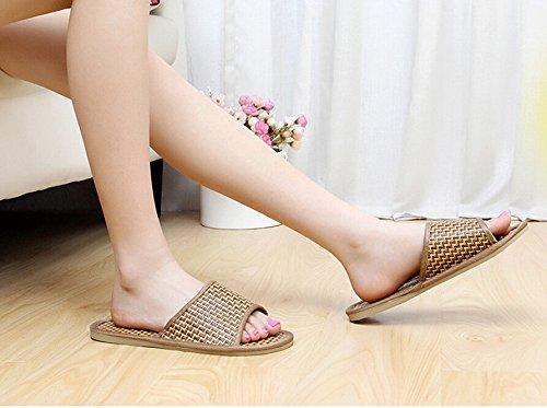 SODACODA Unisex Classic Bamboo Stripe Anti Slip House Slippers