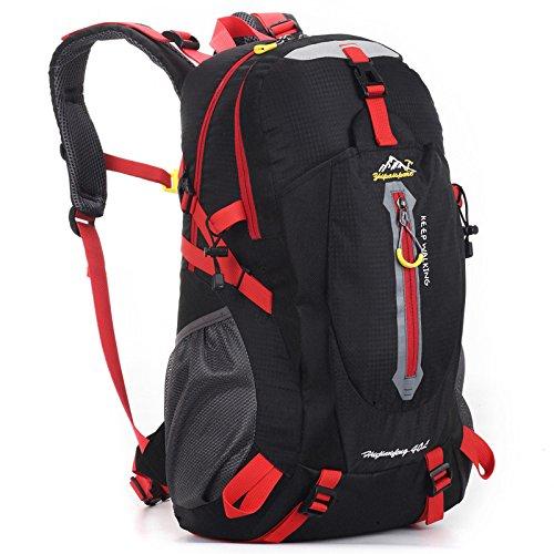 Bergsteigen wandern Rucksack Tasche Outdoor Klettern Bergsteigen Reisen Camping wasserdichte Unisex multiuse Schultaschen , rot