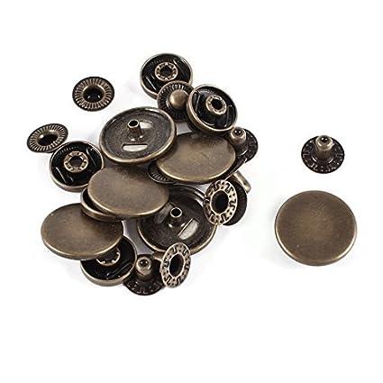 Amazon.com: eDealMax Metal de las presillas Poppers de Coser botones ...