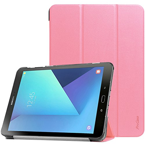 Samsung Galaxy Tab S3 9.7 Case, ProCase Slim Light Smart Cover Stand Hard Shell Case for Galaxy Tab S3 9.7-Inch Tablet SM-T820 T825 (Pink) (Samsung S3 Case Pink)