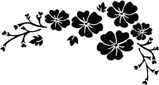 30*14CM Waterproof Sticker Engraving Flower Pattern Car Sticker Delicate Car Stickers