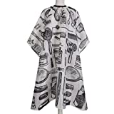 CCbeauty Hair Apron Cape Hairstylist Simple Design Pattern Waterproof Haircut Cloth Wrap Protect