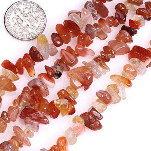 GEM-inside Red Carnelian Natural 7-8MM Chips Beads Gemstone Gem Loose Beads 34