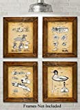 Original Duck Decoys Patent Art Prints – Set of Four Photos (8×10) Unframed – Great Gift for Duck Hunters Review