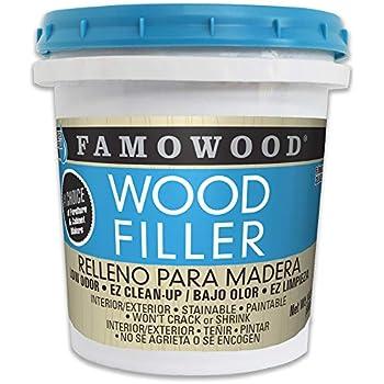 FamoWood 40022144 Latex Wood Filler - Pint, White