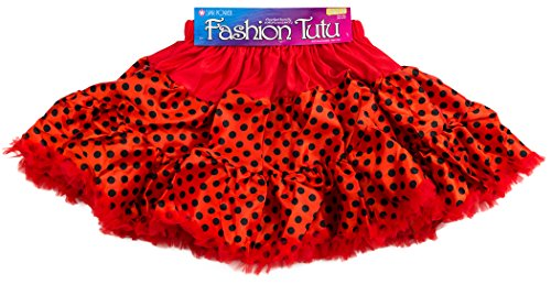 Star Power Women Party Ladybug Tutu Skirt, Red Black, One-Size (Ladybug Tutu Costume)