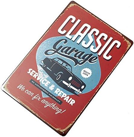 Achkl Classic Garage Tin Sign Vintage Metal Plaque Poster Leiste Pub Zuhause Wall Decor (Size : Size: 20X30Cm)