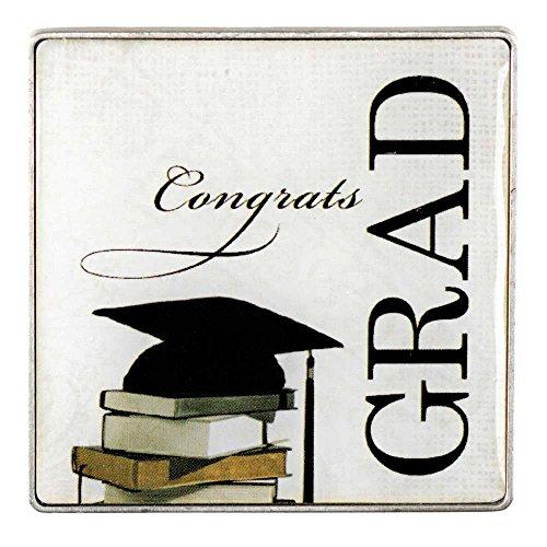 Congrats Grad Auto - Congrats Grad Graduation Cap on Books Metal Car Auto Visor Clip