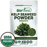 kelp for cooking - Biofinest Kelp Seaweed Powder -100% Pure Antioxidants Superfood - USDA Certified Organic Kosher Vegan Raw Non-GMO - Boost Digestion Weight Loss Detox - for Smoothie Beverage (4 oz Resealable Bag)