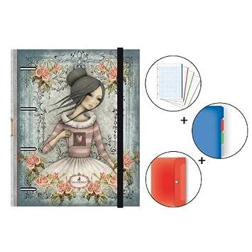 Carpeta Mirabelle Senfort 4 Anillas Folio, 120 Hojas: Amazon.es: Oficina y papelería