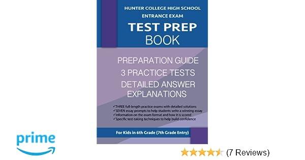 Hunter College High School Entrance Exam Test Prep Book: 3 Practice