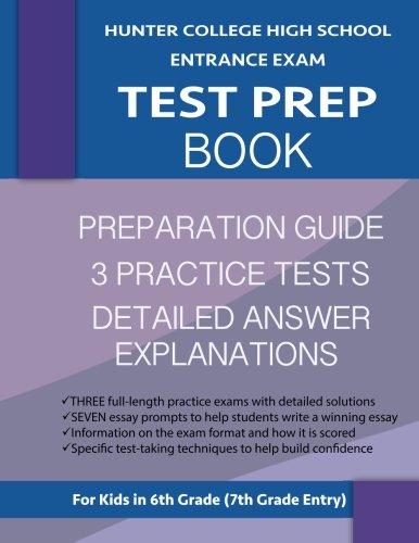 Hunter College High School Entrance Exam Test Prep Book: 3 Practice Tests & Hunter Test Prep Guide; Hunter College Middle School Test Prep; HCHS ... School Test Book, High School Entrance Tests by Origins Publications (Image #1)