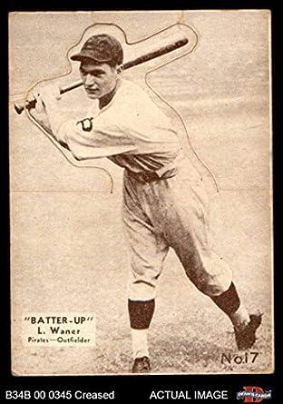 Amazoncom 1934 Batter Up 17 Lloyd Waner Baseball Card