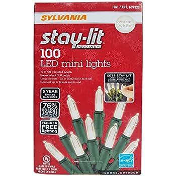 Amazon Com Sylvania Christmas Lights 3 Function Color