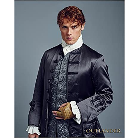 sam heughan 8 inch x10 inch photograph outlander a princess for christmas first light wearing blue