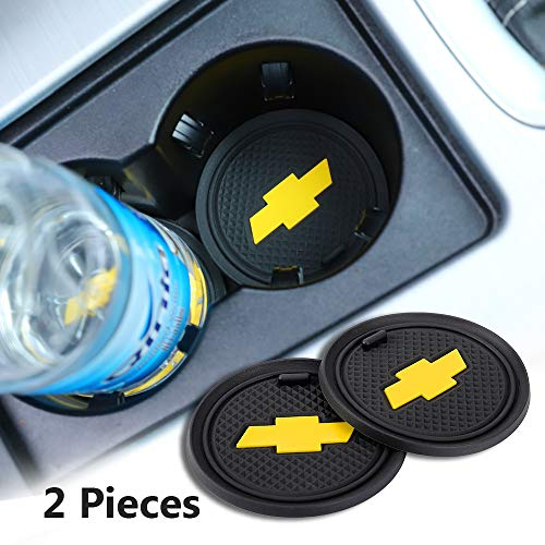 2 Pack 2.75 inch Car Interior Accessories Anti Slip Cup Mat for Chevrolet All Models (for Chevrolet)