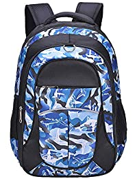 Shark Backpack for Boys, Kids by Fenrici, Durable 18 inch Book Bags for Elementary, Middle School Students, Supporting Kids with Rare Diseases (BRAVERY, M)