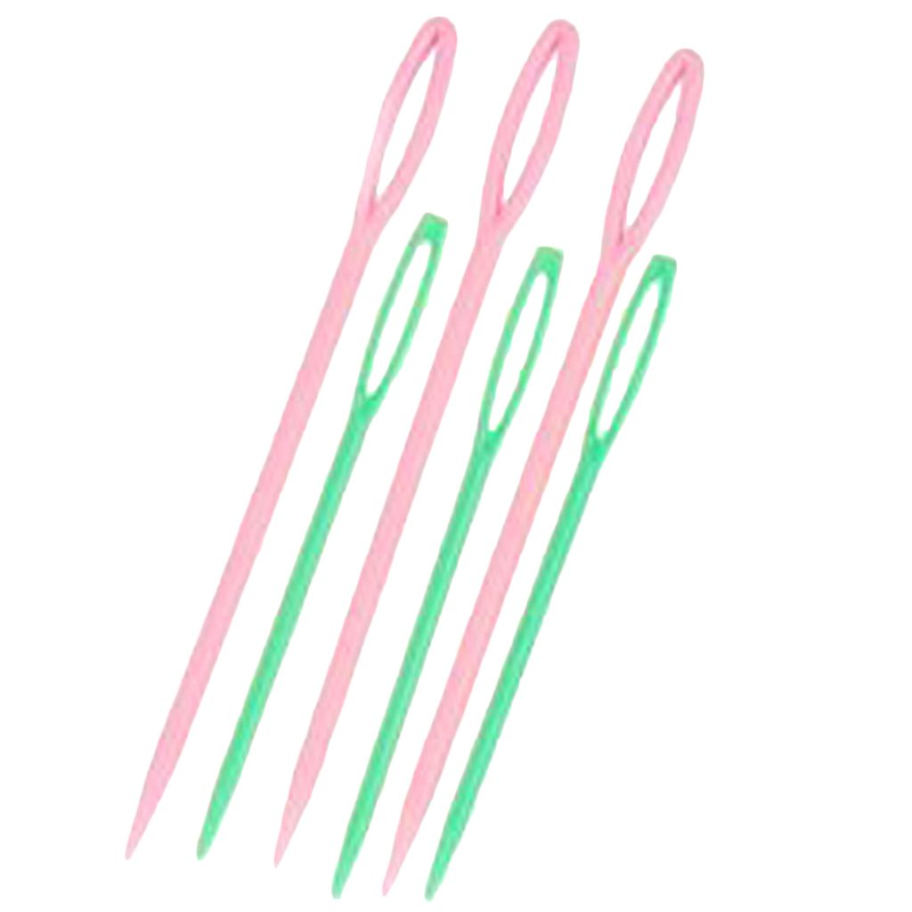6pcs 2 Sizes Plastic Hand Sewing Needles Notions