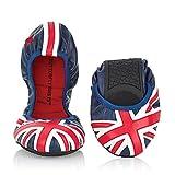 Women's Butterfly Twists Union Jack Ballet Flats - Faux Leather - European 36 offers