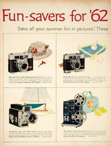 1962 Ad Vintage Kodak Camera 35F Zoom 8mm Home Movie Carousel Slide Projector - Original Print Ad