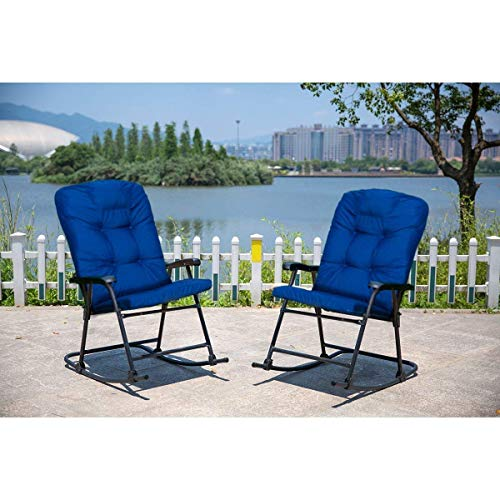 Sunlife Outdoor Foldable Rocking Chair Set Modern Patio