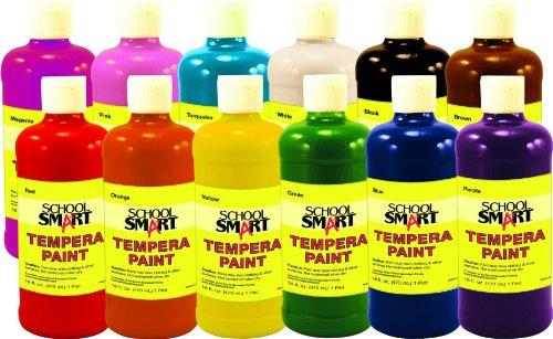 School Smart 1439187 - Juego de pinturas de temperatura líquida multiusos, no tóxicas, 1