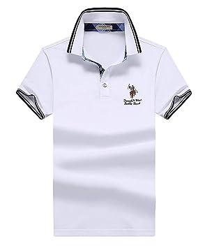 TMBDYE Camisa de Polo de los Hombres 2019 de la Solapa del algodón ...